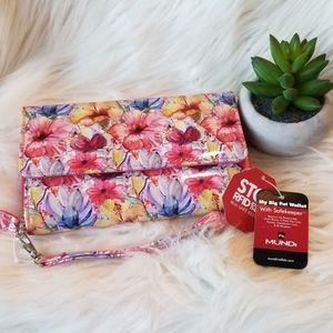 Mundi My Big Fat Wallet / Wristlet Floral print